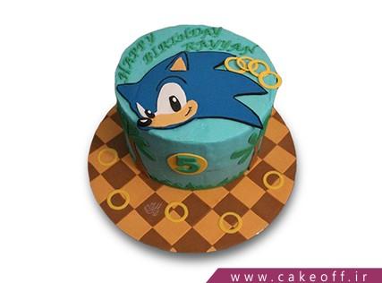 کیک کارتونی - کیک پسرانه - کیک سونیک 3 | کیک آف