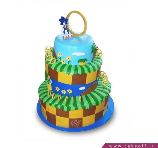 انواع کیک تولد پسرانه - کیک کارتونی - کیک سونیک ۴ | کیک آف
