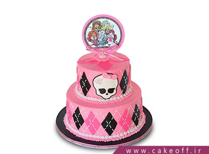 انواع کیک تولد دخترانه - کیک کارتونی مانستر های 2 | کیک آف