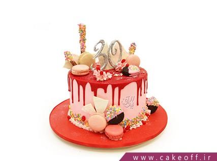 سفارش کیک تولد - کیک چکه ای شادلین | کیک آف