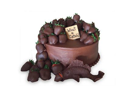 سفارش کیک تولد در اصفهان - کیک توت فرنگی های شکلاتی | کیک آف