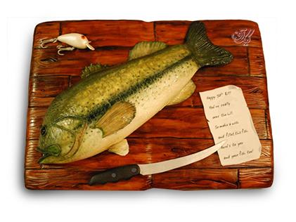 کیک تولد - کیک فیگور ماهی ساطوری | کیک آف