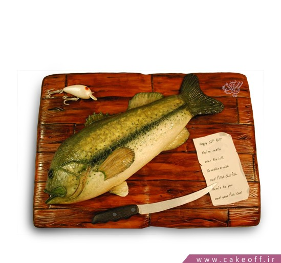کیک تولد - کیک فیگور ماهی ساطوری   کیک آف