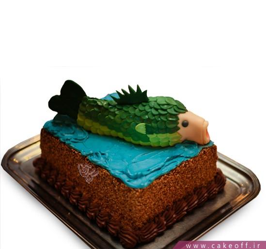 خرید کیک اینترنتی - کیک تولد ماهی دهان گشاد | کیک آف