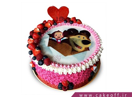 کیک تولد دختر بچه - کیک ماشا و میشا 3 | کیک آف