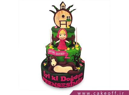 کیک تولد دختر بچه - کیک ماشا و میشا 8 | کیک آف