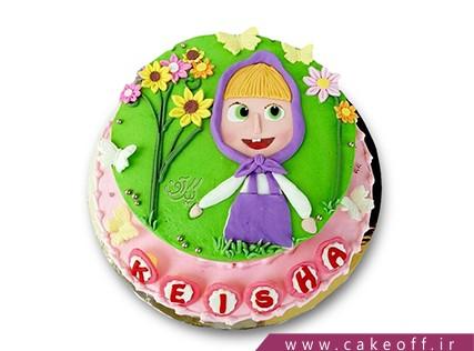 کیک تولد دختر بچه - کیک ماشا و میشا 6 | کیک آف