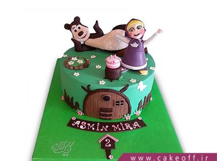 کیک تولد دختر بچه - کیک ماشا و میشا 9 | کیک آف
