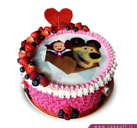 کیک تولد دختر بچه - کیک ماشا و میشا ۳ | کیک آف