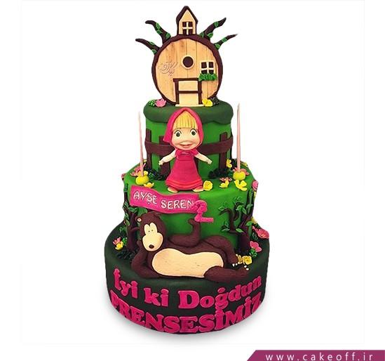 کیک تولد دختر بچه - کیک ماشا و میشا ۸ | کیک آف