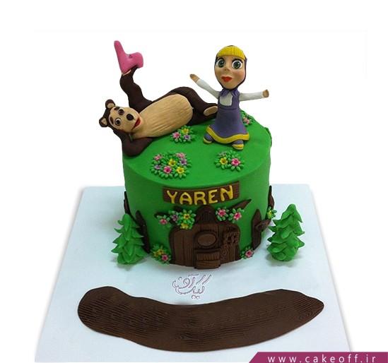 کیک تولد دختر بچه - کیک ماشا و میشا ۷ | کیک آف