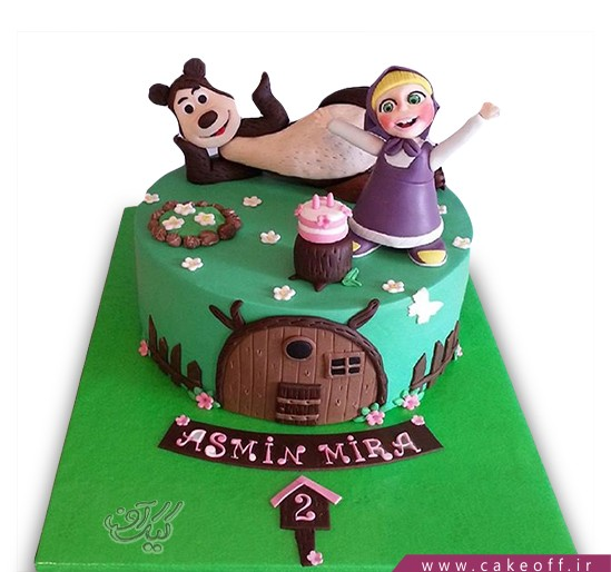 کیک تولد دختر بچه - کیک ماشا و میشا ۹ | کیک آف