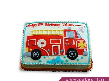 کیک مشاغل - کیک ماشین آتش نشان | کیک آف