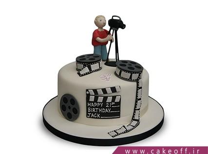 کیک تولد هنری - کیک فیلم بردار حرفه ای | کیک آف