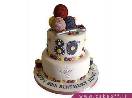 کیک تولد مادربزرگ - کیک مادربزرگ هنرمندم | کیک آف