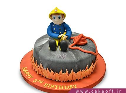 کیک مشاغل - کیک قهرمان قرمزپوش | کیک آف