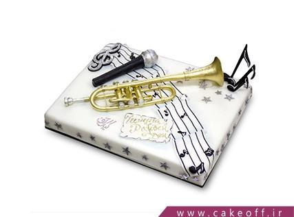 کیک تولد موسیقی - کیک خواننده پاپ | کیک آف