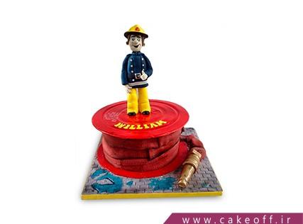 کیک روز آتشنشان - کیک قهرمان آتش | کیک آف