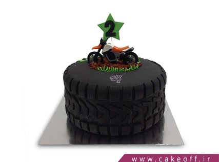 کیک ورزشی - کیک موتورسواری | کیک آف