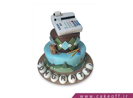 کیک روز حسابدار - کیک حسابدار با دقت | کیک آف