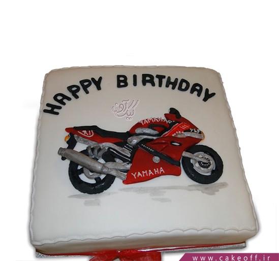 کیک تولد پسرانه - کیک نان و عشق و موتور هزار | کیک آف