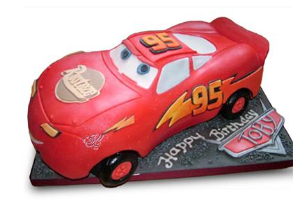 سفارش کیک ماشین - کیک تولد مک کویین 1 | کیک آف
