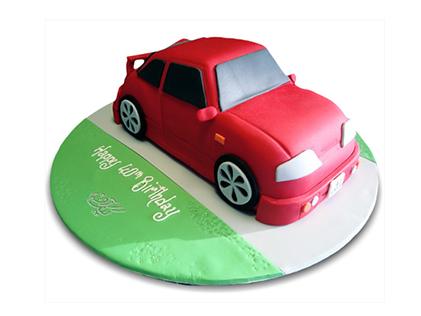 کیک تولد پسرانه - کیک ماشین تک سوار | کیک آف
