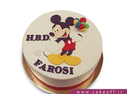 کیک تولد بچه گانه - کیک میکی موس بادکنکی | کیک آف
