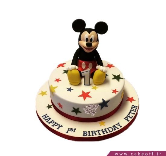 کیک تولد میکی موس تولدت مبارک