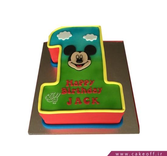 مدل کیک پسرانه - کیک عدد تولد میکی موس کارتونی | کیک آف