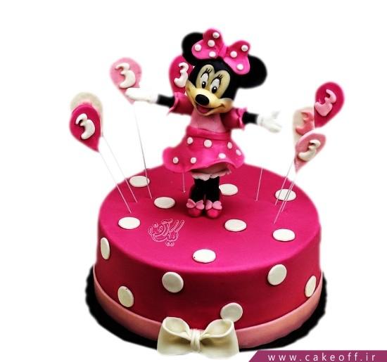 کیک تولد دخترانه مینی موس می رقصد