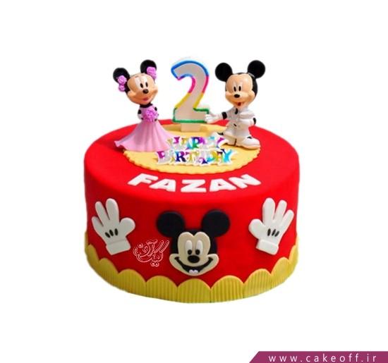 مدل کیک بچگانه - کیک تولد کودک عروسی میکی و مینی | کیک آف