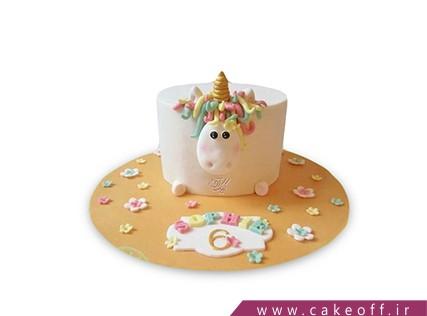 کیک فانتزی گاو شاخ طلا | کیک آف