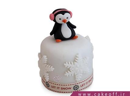 کیک بچگانه فانتزی - کیک پنگوئن در برف | کیک آف