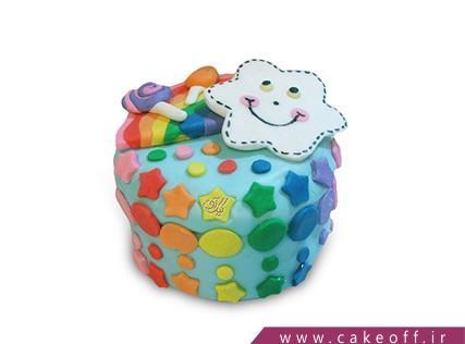 کیک روز کودک - کیک کمان هفت رنگ | کیک آف
