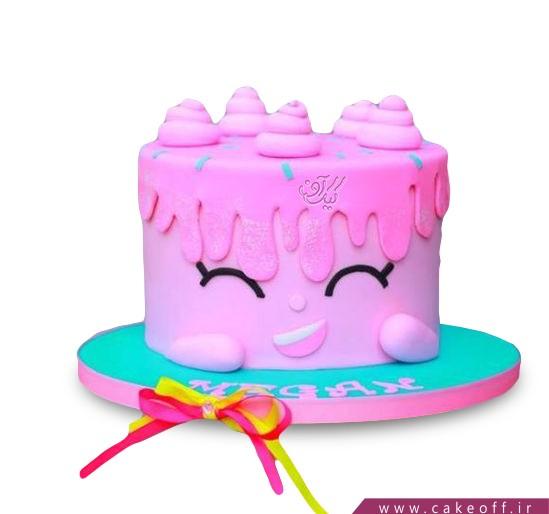 کیک تولد فانتزی چِک،چِک،صورتی | کیک آف