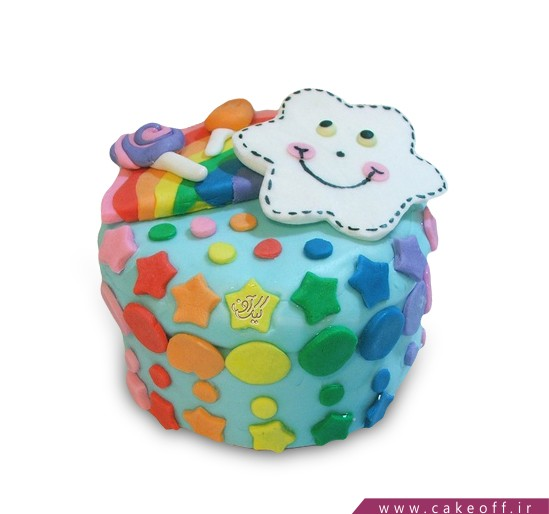 کیک کمان هفت رنگ