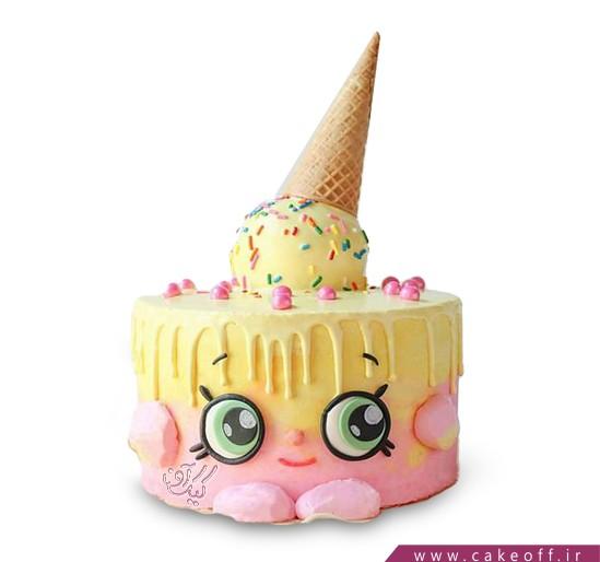کیک چکه ای - کیک بستنی خوشحال | کیک آف