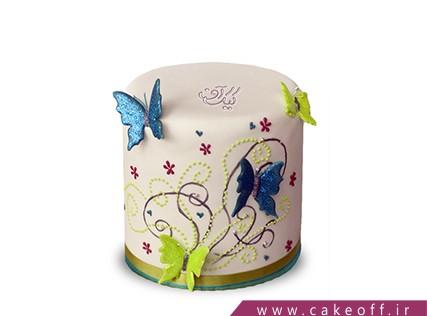 کیک پروانه - کیک تولد خبری از بُستان | کیک آف