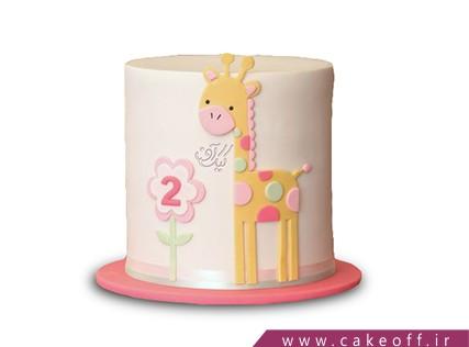 سفارش کیک تولد - کیک زرافه خالخالی | کیک آف