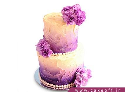 سفارش کیک عقد و عروسی - کیک دو طبقه - کیک یاسین | کیک آف