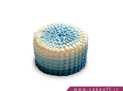 سفارش کیک آنلاین - کیک موج های آرام | کیک آف