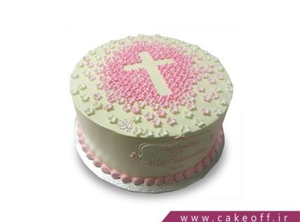 سفارش کیک آنلاین در اصفهان - کیک صلیب صورتی | کیک آف