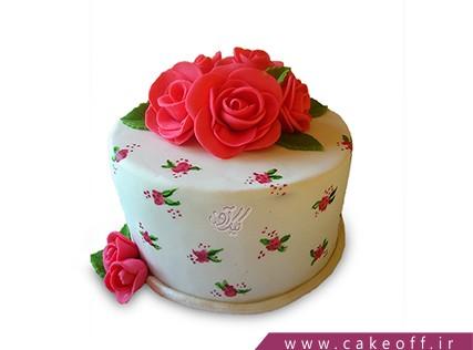 سفارش کیک زنانه - کیک گل در بر | کیک آف