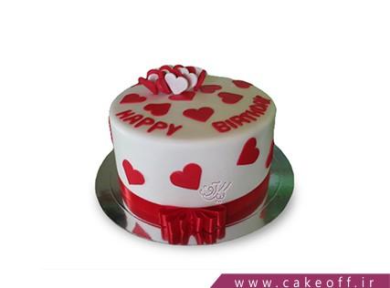 فروشگاه اینترنتی کیک - کیک قلب های مخملی | کیک آف