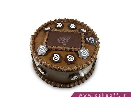 سفارش کیک اینترنتی - کیک گرد قهوه ای | کیک آف