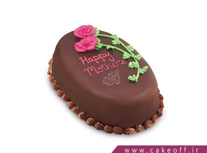 سفارش کیک - کیک دو رز صورتی | کیک آف
