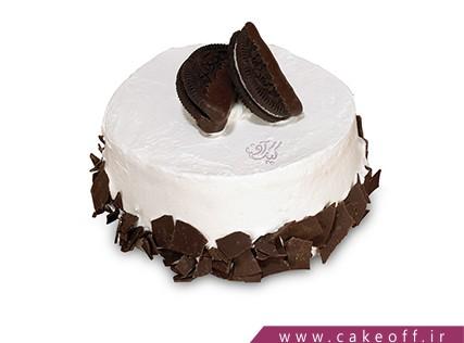 سفارش کیک ساده - کیک دو تکه بیسکوییت | کیک آف
