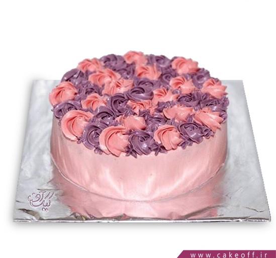 سفارش کیک ساده - کیک غنچه گل  | کیک آف