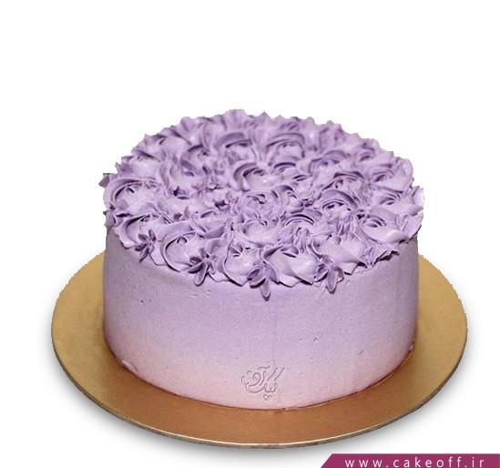 سفارش کیک ساده - کیک شکوفه های یاس   کیک آف